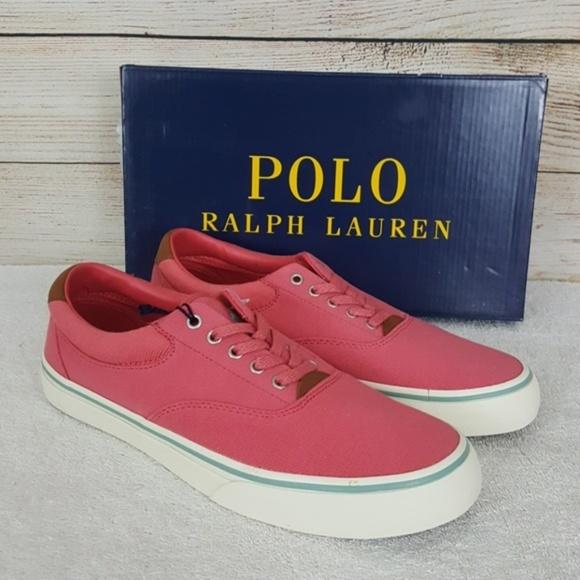 0e4da2786 New Polo Ralph Lauren Thornton II Canvas Sneakers